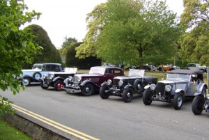 ROC member's cars at Bletchley Park