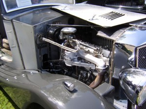 The engine bay of a 1935 Railton 8 cylinder 2 door Saloon.